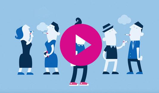 Video met uitleg over hulp bij stoppen met roken