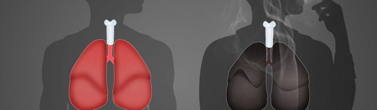 Illustratie van schone en zwarte longen